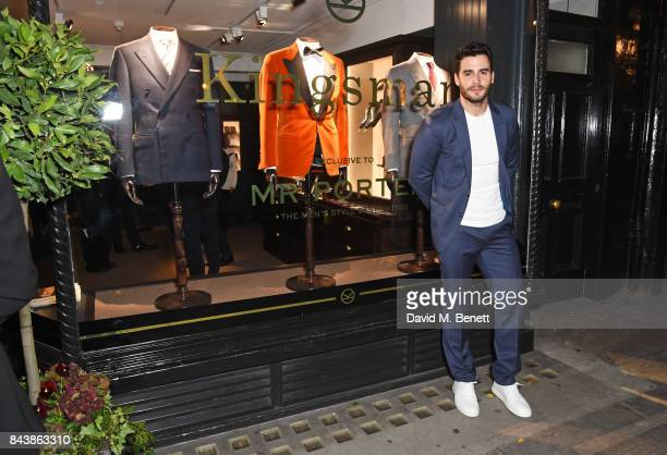 Ben Cura attends the launch of the 'Kingsman' shop on St James's Street in partnership with MR PORTER MARV Twentieth Century Fox in celebration of...