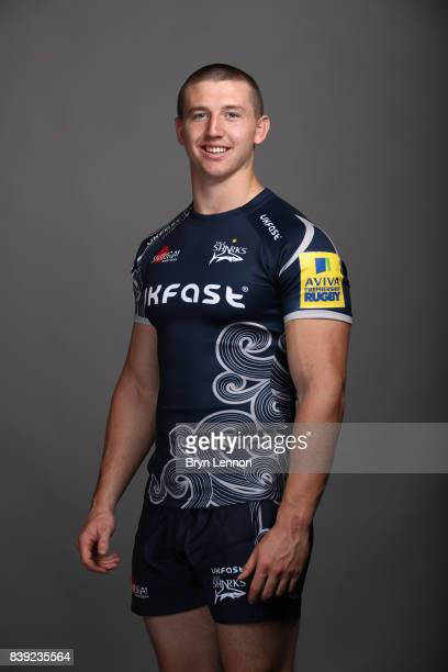 Ben Curry of Sale Sharks poses during a photocall on August 23 2017 in Sale England