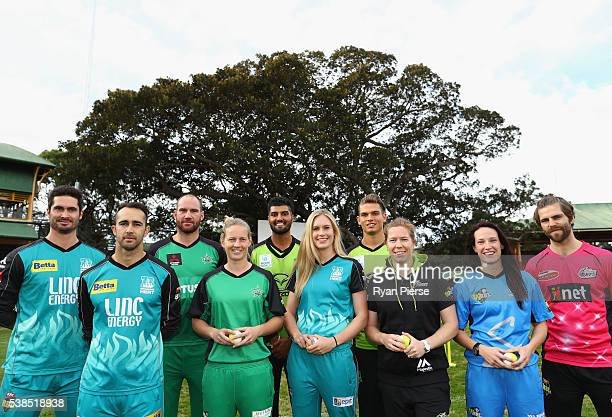 Ben Cutting John Hastings Gurinder Sandhu Chris Green and Ryan Carters Josh Lalor Meg Lanning Holly Ferling Alex Blackwell and Megan Shutt pose...