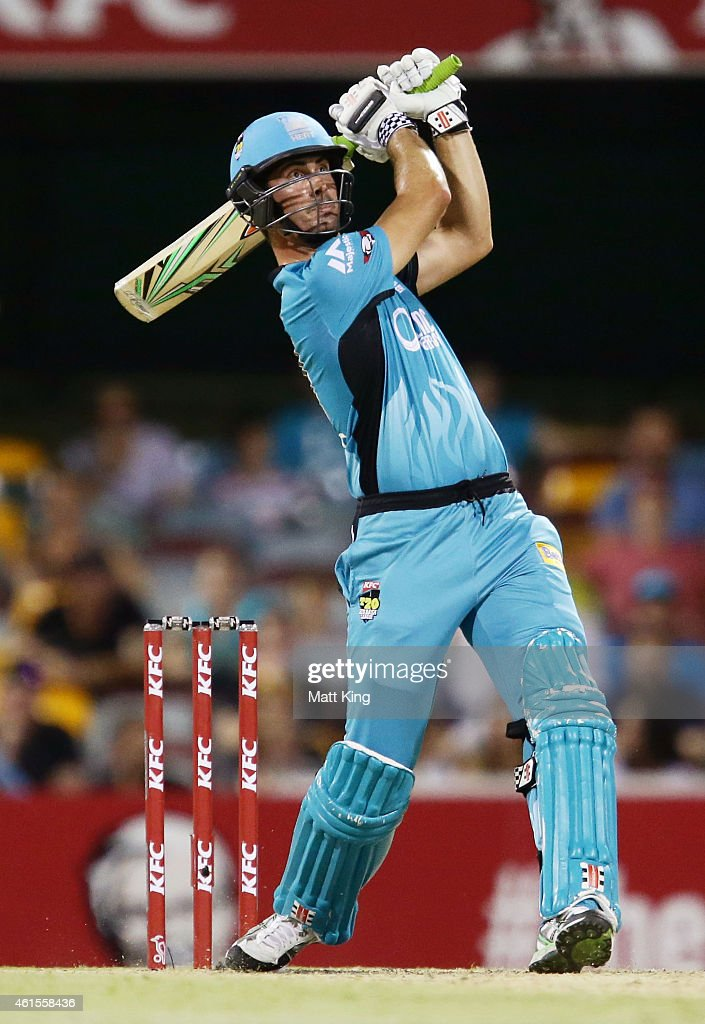 <a gi-track='captionPersonalityLinkClicked' href=/galleries/search?phrase=Ben+Cutting&family=editorial&specificpeople=4537947 ng-click='$event.stopPropagation()'>Ben Cutting</a> of the Heat bats during the Big Bash League match between the Brisbane Heat and Hobart Hurricanes at The Gabba on January 15, 2015 in Brisbane, Australia.