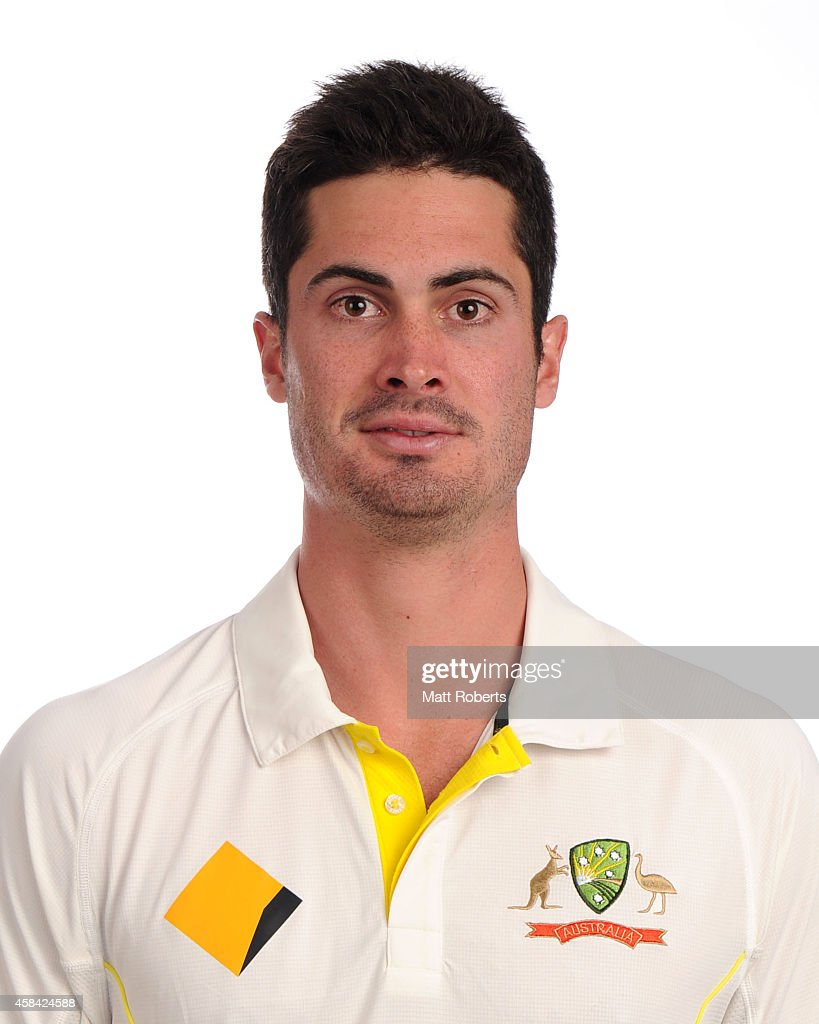 <a gi-track='captionPersonalityLinkClicked' href=/galleries/search?phrase=Ben+Cutting&family=editorial&specificpeople=4537947 ng-click='$event.stopPropagation()'>Ben Cutting</a> poses during the Australia Test team headshots session at the Mantra on Southbank on August 15, 2014 in Brisbane, Australia.