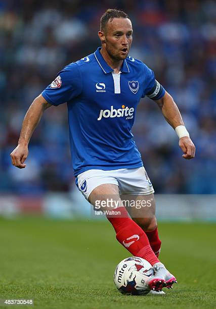 Ben Davies of Portsmouth in action during the Capital One Cup First Round match between Portsmouth v Derby County at Fratton Park on August 12 2015...