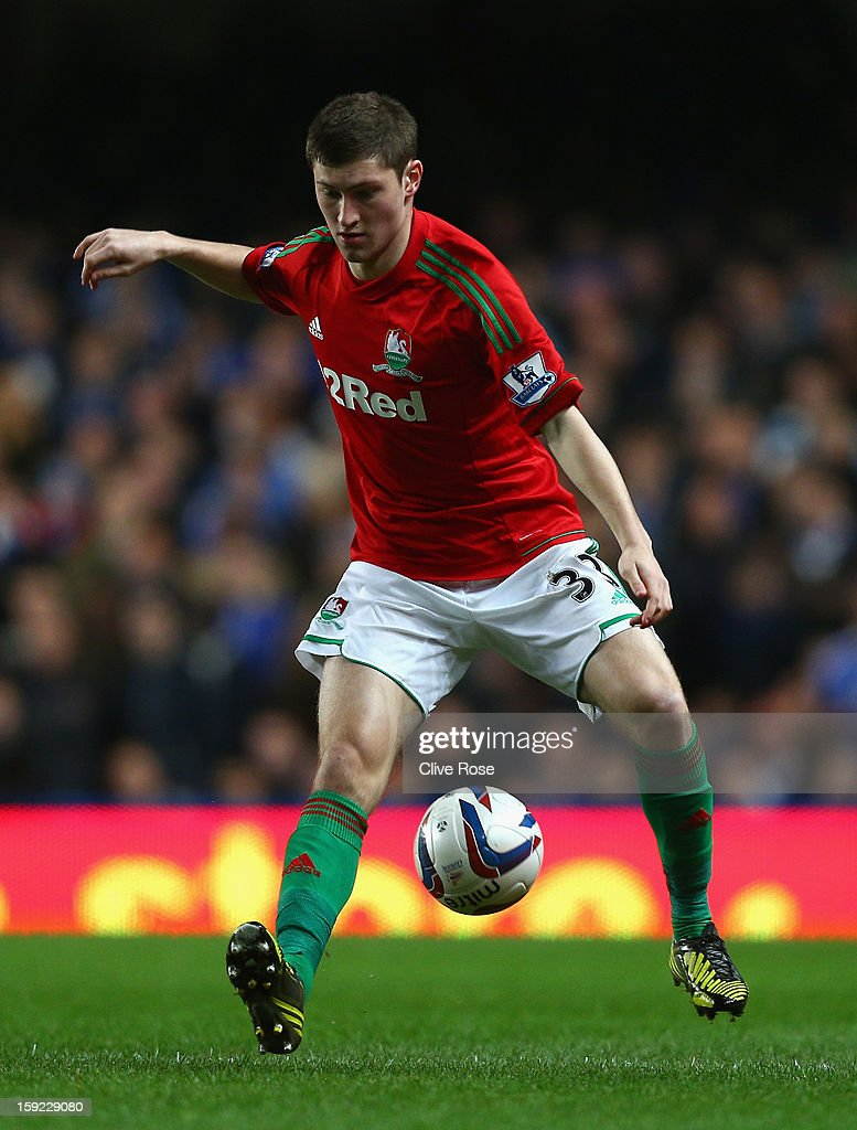 Ben Davies of Swansea City in action during the Capital One Cup Semi-Final first leg match between Chelsea and Swansea City at Stamford Bridge on January 9, 2013 in London, England.