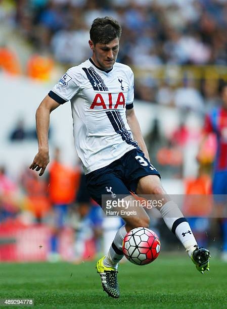 Ben Davies of Tottenham Hotspur in action during the Barclays Premier League match between Tottenham Hotspur and Crystal Palace at White Hart Lane on...
