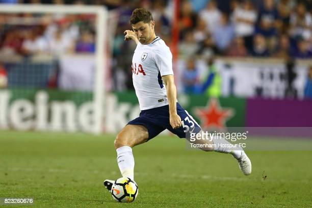 Ben Davies of Tottenham Hotspur in action Roma during the International Champions Cup 2017 at Red Bull Arena on July 25 2017 in Harrison New Jersey
