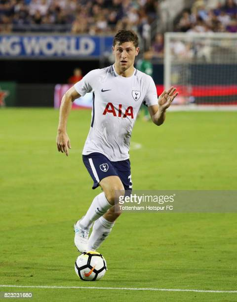 Ben Davies of Tottenham Hotspurs works the ball against Paris SaintGermain during a International Champions Cup 2017 game at Camping World Stadium on...
