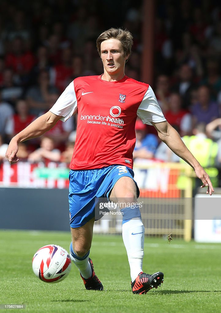 Ben Davies of York City in action during the Sky Bet League Two match between York City and Northampton Town at Bootham Crescent on August 3, 2013 in York, England.