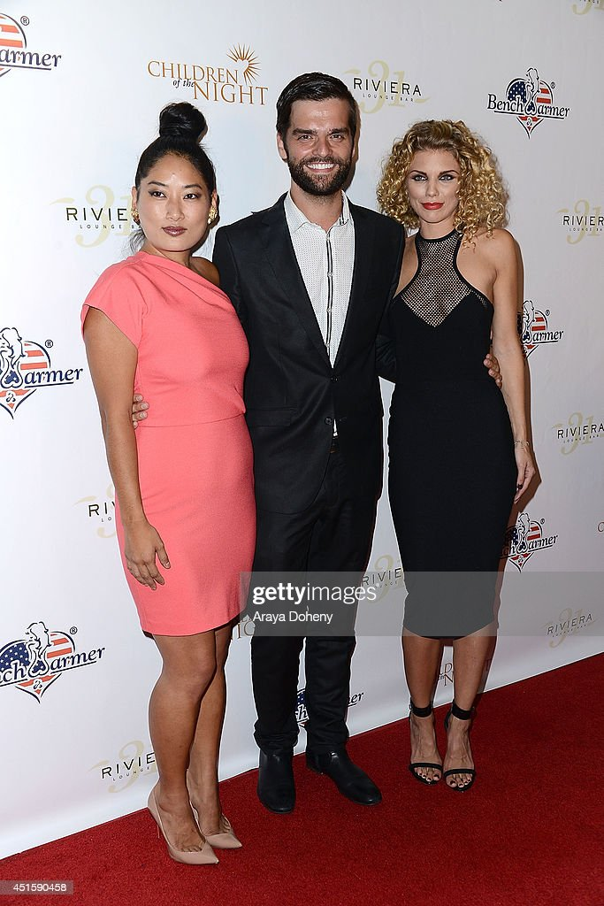 Ben Decker (C) and <a gi-track='captionPersonalityLinkClicked' href=/galleries/search?phrase=AnnaLynne+McCord&family=editorial&specificpeople=4070122 ng-click='$event.stopPropagation()'>AnnaLynne McCord</a> (R) attend the Children of The Night and BenchWarmer's annual Stars & Stripes event on July 1, 2014 in Los Angeles, California.