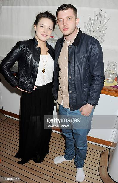 Ben Drew aka Plan B and guest attend a lunch hosted by Len Blavatnik Harvey Weinstein and Warner Music during the 65th Cannes Film Festival on board...