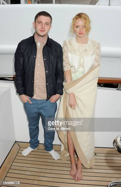 Ben Drew aka Plan B and model Lily Cole attend a lunch hosted by Len Blavatnik Harvey Weinstein and Warner Music during the 65th Cannes Film Festival...