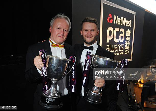 Ben Duckett and Father during The PCA Awards at Grosvenor House on September 28 2016 in London England