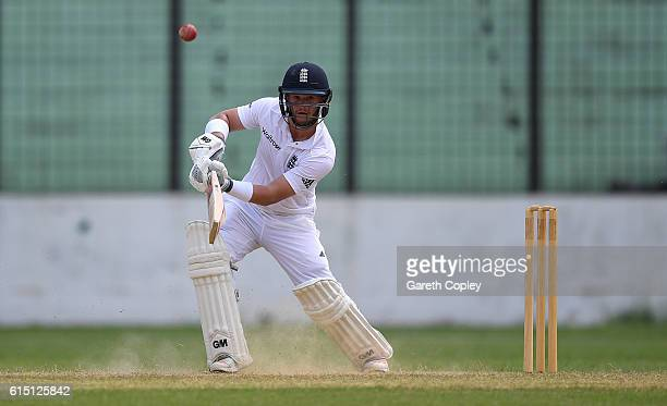 Ben Duckett of England bats during day two of the tour match between a Bangladesh Cricket Board XI and England at MA Aziz stadium on October 17 2016...
