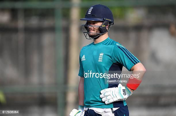 Ben Duckett of England during a nets session at ShereBangla National Cricket Stadium on October 6 2016 in Dhaka Bangladesh