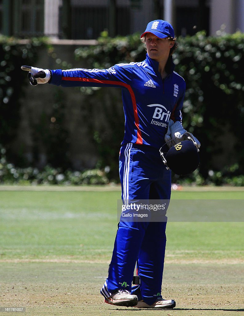 Ben Duckett of England during the 2nd U/19 Youth One Day International match between South Africa and England at Bellville Cricket Club on February 15, 2013 in Cape Town, South Africa.