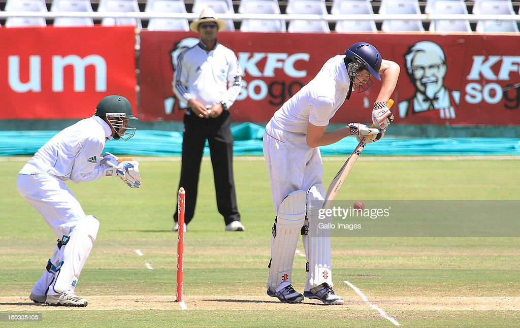 Ben Duckett of England in action during day 3 of the first under 19 Youth Test match between South Africa and England at Sahara Park Newlands on January 29, 2013 in Cape Town, South Africa.