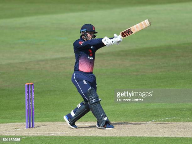 Ben Duckett of England Lions hits out during the One Day International match between England Lions and SouthAfrica A at Trent Bridge on June 1 2017...