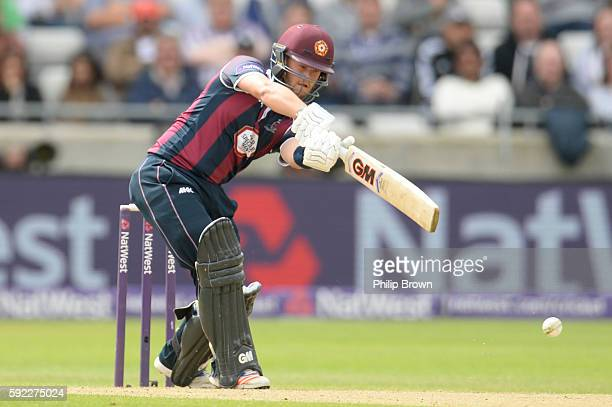 Ben Duckett of Northamptonshire bats during the Natwest T20 Blast match between Northamptonshire and Nottinghamshire at Edgbaston cricket ground on...