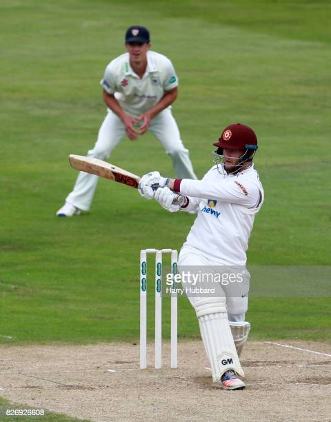 Ben Duckett of Northamptonshire bats during the Specsavers County Championship Division Two match between Northamptonshire and Gloucestershire at The...