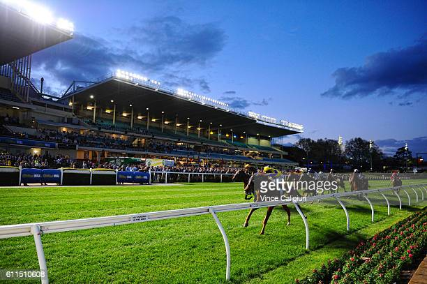 Ben E Thompson riding Mr Individual wins Race 1 during Melbourne racing at Moonee Valley Racecourse on September 30 2016 in Melbourne Australia