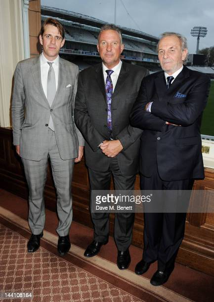 Ben Elliot Sir Ian Botham and Mark Shand attend the Johnnie Walker Blue Label Cricket Dinner in honour of Sir Ian Botham at The Pavillion Lord's on...