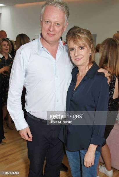 Ben Evans and Amanda Levete attend the Mayor of London's Summer Culture Reception on July 18 2017 in London England