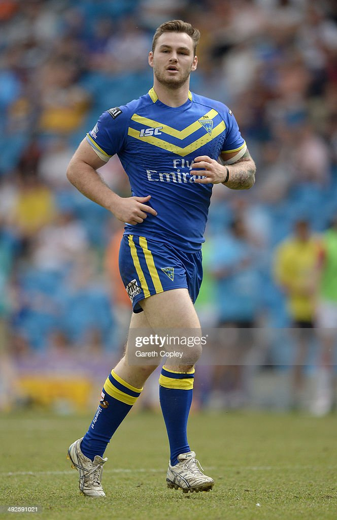 Ben Evans of Warrington Wolves during the Super League match between Warrington Wolves and St Helens at Etihad Stadium on May 18, 2014 in Manchester, England.