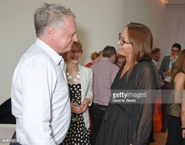 Ben Evans Pamela Alexander and Caroline Rush attend the Mayor of London's Summer Culture Reception on July 18 2017 in London England