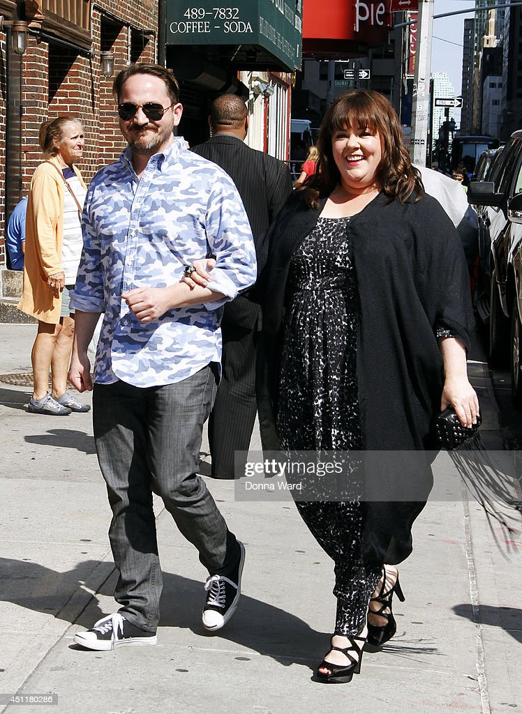 <a gi-track='captionPersonalityLinkClicked' href=/galleries/search?phrase=Ben+Falcone&family=editorial&specificpeople=4068633 ng-click='$event.stopPropagation()'>Ben Falcone</a> and <a gi-track='captionPersonalityLinkClicked' href=/galleries/search?phrase=Melissa+McCarthy&family=editorial&specificpeople=880291 ng-click='$event.stopPropagation()'>Melissa McCarthy</a> arrive for the 'Late Show with David Letterman' at Ed Sullivan Theater on June 24, 2014 in New York City.