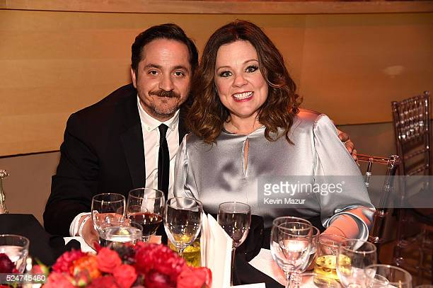 Ben Falcone and Melissa McCarthy attend the 2016 Time 100 Gala Time's Most Influential People In The World at Jazz At Lincoln Center at the Time...