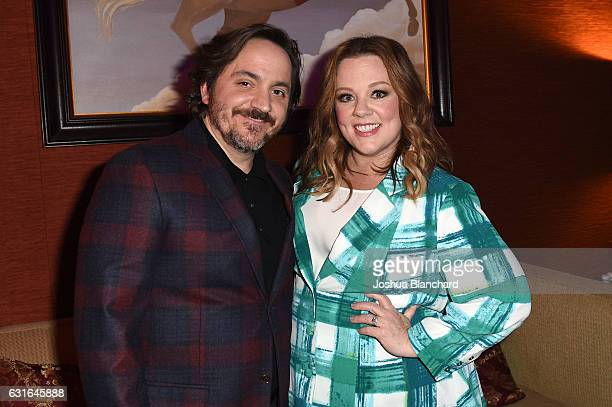 Ben Falcone and Melissa McCarthy attend the Viacom Winter TCA Panels and Party on January 13 2017 in Pasadena California