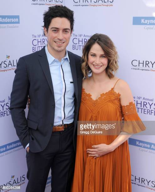 Ben Feldman and Michelle Feldman arrive at the 16th Annual Chrysalis Butterfly Ball at a private residence on June 3 2017 in Brentwood California