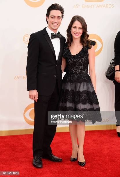 Ben Feldman and Michelle Mulitz arrive at the 65th Annual Primetime Emmy Awards held at Nokia Theatre LA Live on September 22 2013 in Los Angeles...