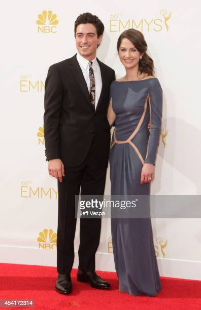 Ben Feldman and Michelle Mulitz attend the 66th Annual Primetime Emmy Awards held at Nokia Theatre LA Live on August 25 2014 in Los Angeles California