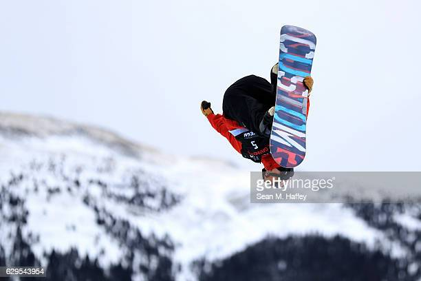 Ben Ferguson takes a practice run in the halfpipe during the 2017 US Snowboarding Grand Prix at Copper Mountain on December 13 2016 in Copper...