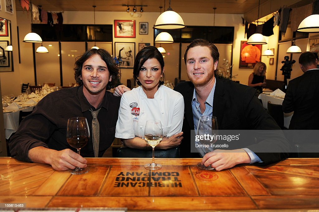 <a gi-track='captionPersonalityLinkClicked' href=/galleries/search?phrase=Ben+Flajnik&family=editorial&specificpeople=8201395 ng-click='$event.stopPropagation()'>Ben Flajnik</a>, Chef Carla Pellegrino and Mike Benziger attend a wine pairing dinner benefiting Henderson Boys and Girls Club at Bratalian Restaurant on November 5, 2012 in Henderson, Nevada.