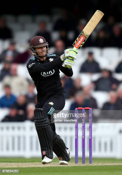Ben Foakes for Surrey bats during the Royal London OneDay Cup match between Surrey and Middlesex at The Kia Oval on May 5 2017 in London England