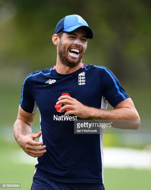 Ben Foakes of England has a laugh during an England nets session at Riverway Stadium on November 14 2017 in Townsville Australia