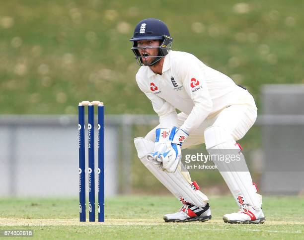 Ben Foakes of England keeps wicket during the four day tour match between Cricket Australia XI and England at Tony Ireland Stadium on November 15...
