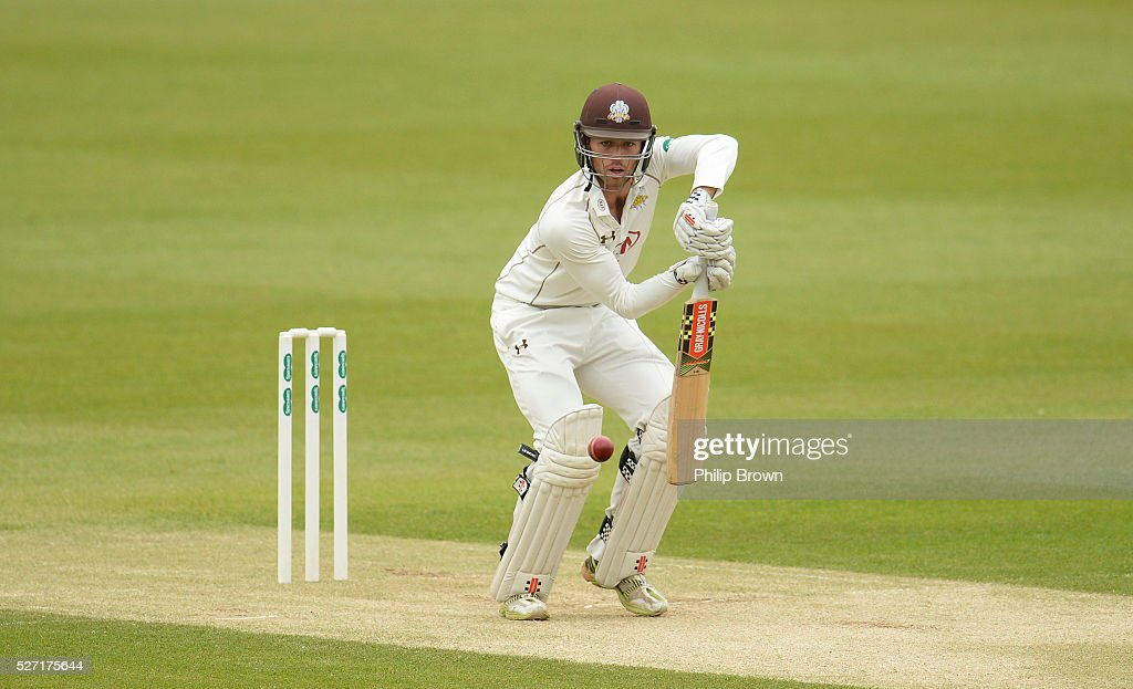 Ben Foakes of Surrey bats during day two of the Specsavers County Championship Division One match between Surrey and Durham at the Kia Oval on May 2, 2016 in London, England.