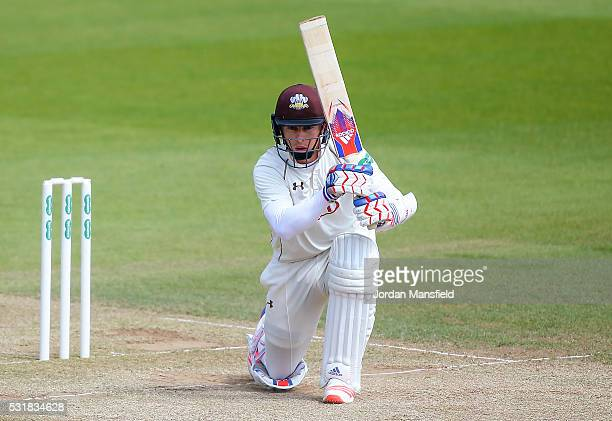 Ben Foakes of Surrey bats during day two of the Specsavers County Championship Division One match between Surrey and Middlesex on May 17 2016 in...