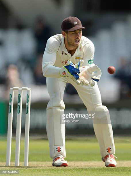 Ben Foakes of Surrey during day one of the Specsavers County Championship Division One match between Surrey and Middlesex at the Kia Oval on May 15...