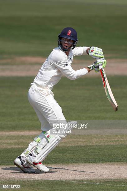 Ben Foakes of the England Lions hits out during day 1 of the match between England Lions and South Africa A at The Spitfire Ground on June 21 2017 in...