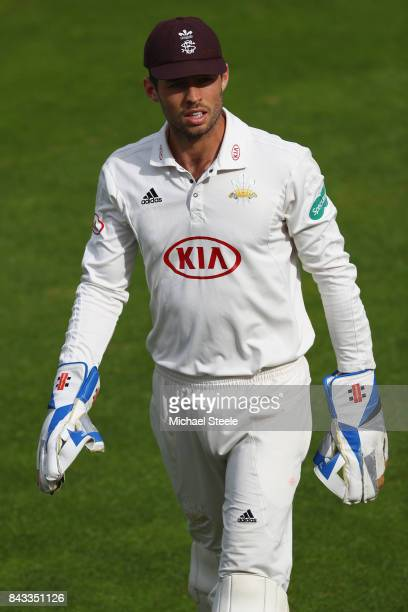 Ben Foakes the wicketkeeper of Surrey during day two of the Specsavers County Championship Division One match between Hampshire and Surrey at the...