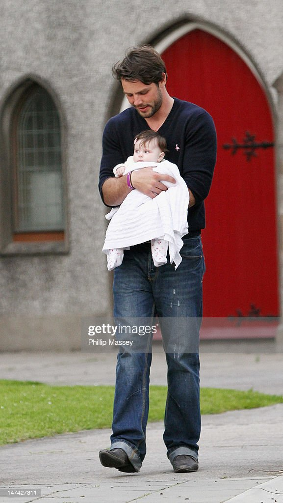 <a gi-track='captionPersonalityLinkClicked' href=/galleries/search?phrase=Ben+Foden&family=editorial&specificpeople=542798 ng-click='$event.stopPropagation()'>Ben Foden</a> and his daughter Aoife leave a local church after attending a rehearsal of his wedding to Una Healy on June 29, 2012 in Tipperary, Ireland.