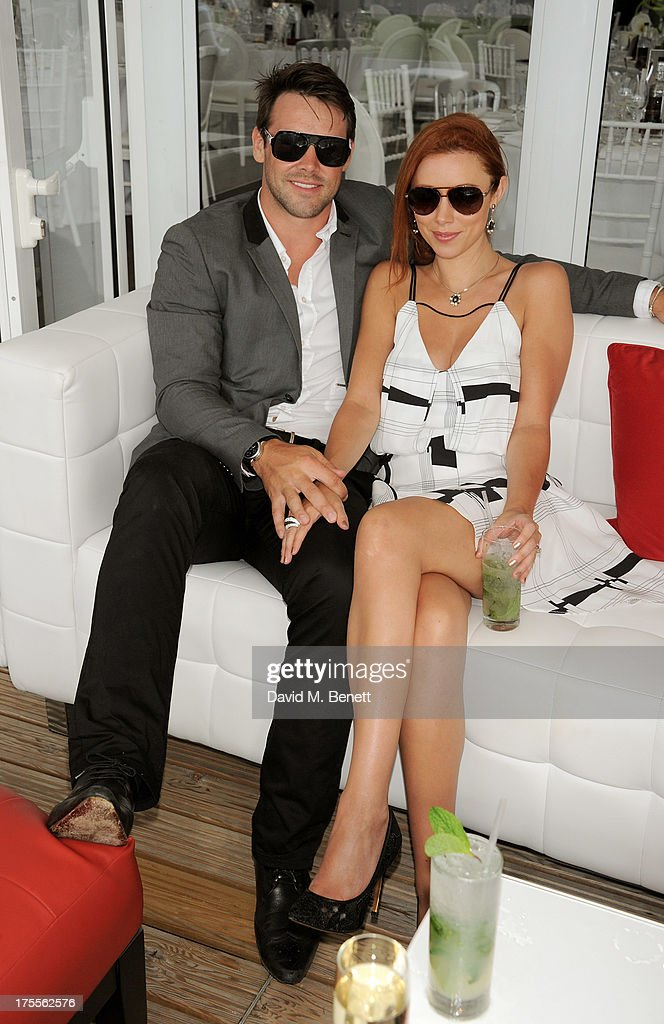 Ben Foden (L) and Una Healy attend day 2 of the Audi Polo Challenge at Coworth Park Polo Club on August 4, 2013 in Ascot, England.