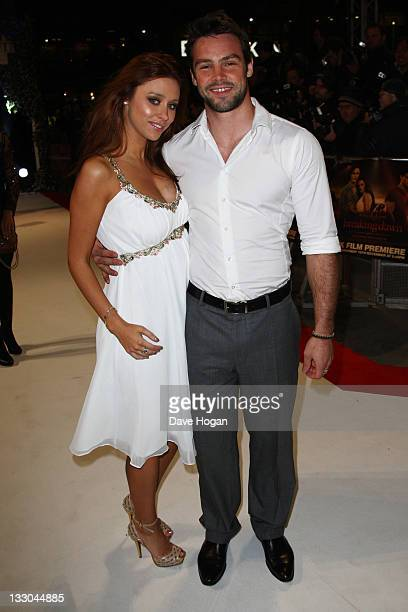 Ben Foden and Una Healy attend the UK premiere of The Twilight Saga Breaking Dawn Part 1 at Westfield Stratford City on November 16 2011 in London...