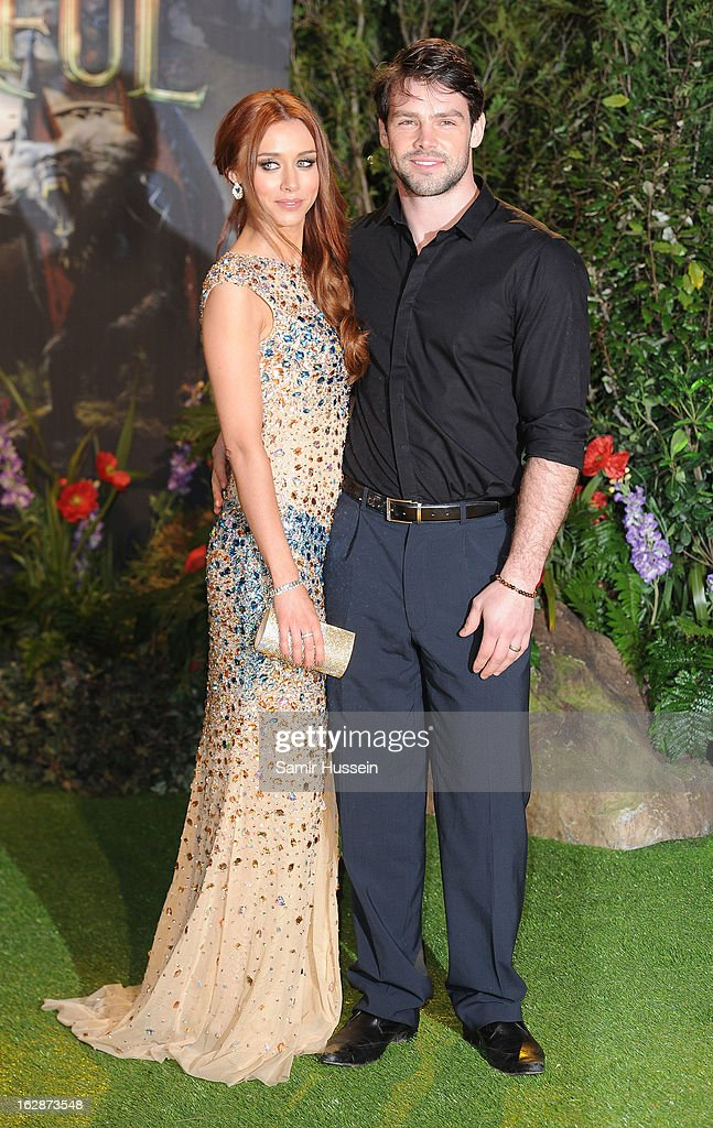 Ben Foden and Una Healy for the 'Oz: The Great And Powerful' European premiere at the Empire Leicester Square on February 28, 2013 in London, England.