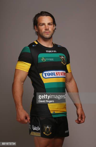 Ben Foden of Northampton Saints poses during the photocall held at Franklin's Gardens on August 15 2017 in Northampton England
