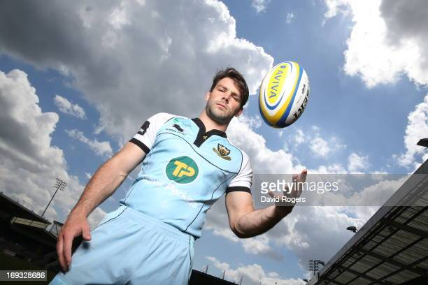 Ben Foden of Northampton Saints poses on May 16 2013 at Franklin's Gardens in Northampton England