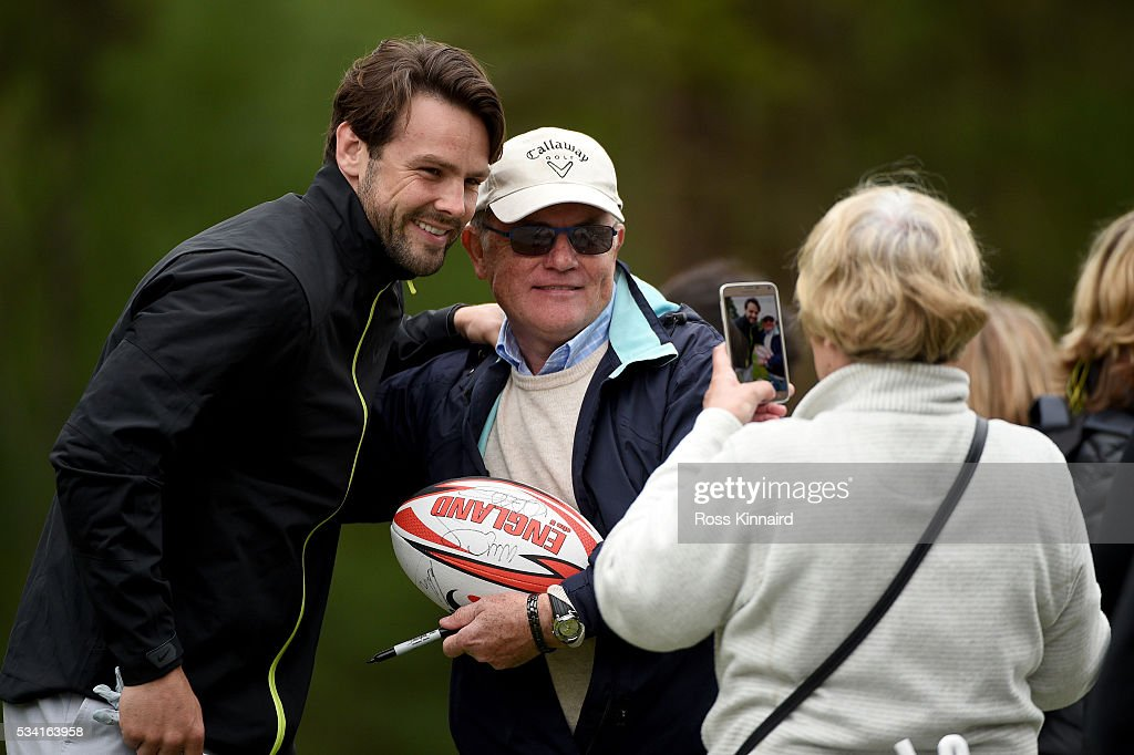 <a gi-track='captionPersonalityLinkClicked' href=/galleries/search?phrase=Ben+Foden&family=editorial&specificpeople=542798 ng-click='$event.stopPropagation()'>Ben Foden</a> poses for a picture during the Pro-Am prior to the BMW PGA Championship at Wentworth on May 25, 2016 in Virginia Water, England.